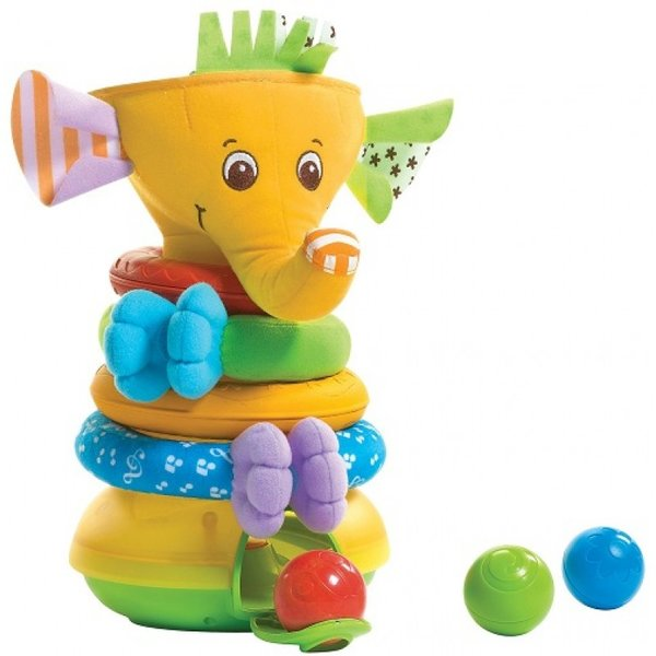 Tiny Love Активно-двигателна играчка Musical Stack & Ball Game - Elephant TL - 0301